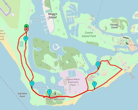 Carte course du 10km