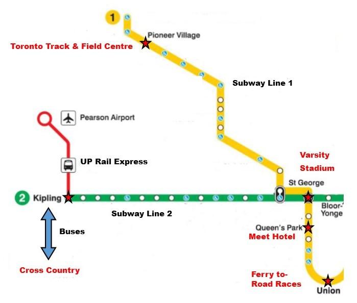 Map - NCC2019 Venues