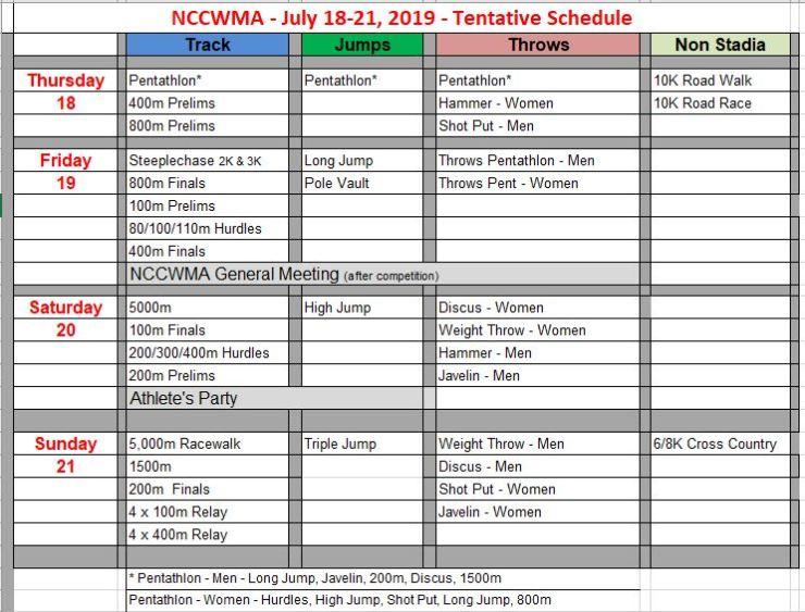 Schedule - Chart Feb Eng