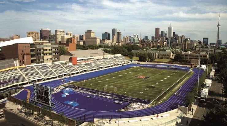Varsity Stadium photo w CN Tower